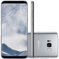 "Smartphone Samsung Galaxy S8 Plus Prata 6,2"" Câmera de 12MP 64GB Octa Core e 4GB de RAM -"