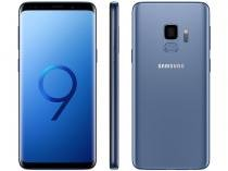 "Smartphone Samsung Galaxy S9 128GB Azul 4G - 4GB RAM Tela 5,8"" Câm. 12MP + Câm. Selfie 8MP"