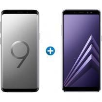 Smartphone Samsung Galaxy S9+ 128GB Cinza - 4G + Smartphone Samsung Galaxy A8+ 64GB