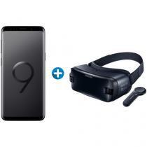 Smartphone Samsung Galaxy S9 128GB Preto 4G - Câm. 12MP + Óculos de Realidade Virtual p/ Galaxy