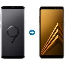 Smartphone Samsung Galaxy S9+ 128GB Preto - 4G + Smartphone Samsung Galaxy A8+ 64GB