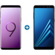 Smartphone Samsung Galaxy S9+ 128GB - Ultravioleta + Smartphone Samsung Galaxy A8+ 64GB
