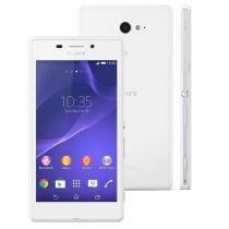 Smartphone Sony Xperia M2 Aqua 8GB Tela 4.8 Android 4.4 Câmera 8MP Single Quad Band -