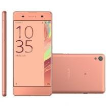 Smartphone sony xperia xa, dual chip, 16gb, 13mp, 4g, rose - f3116 -