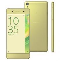 Smartphone Sony Xperia XA F3116 Ouro Verde com 16GB,Dual Chip, Câmera 13MP,4G,Android 6.0 e 2GB RAM -