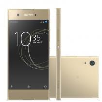 """Smartphone Sony Xperia XA1 Dourado 5"""" Câmera de 23MP 32GB Octa Core e 3GB de RAM -"""