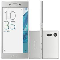 "Smartphone Sony Xperia XZ 32GB Prata 4G - Câm. 23MP + Selfie 13MP Tela 5.2"" Proc. Quad Core"