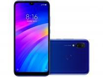 """Smartphone Xiaomi Redmi 7 64GB Azul Cometa 4G - 3GB RAM Tela 6,26"""" Câm. Dupla + Câm. Selfie 8MP"""