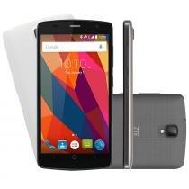 "Smartphone ZTE L5 Shade Desbloqueado Tela 5"" 8GB Câmera Frontal Dual Android 5.1 Preto Capa Branca - Preto - Zte"