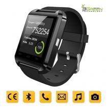 Smartwatch 3Green Bluetooth Android Touchscreen Com Pedometro E Contador De Calorias U8 Preto - Mega page