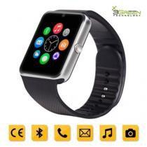 Smartwatch 3Green Chip Todas Operadoras Bluetooth Câmera Selfie Touch Android Gt08 Preto e Prata - Mega page