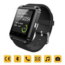Smartwatch Bluetooth Compativel Com Android Touch Com Pedometro E Contador De Calorias U8 Preto - Mega page
