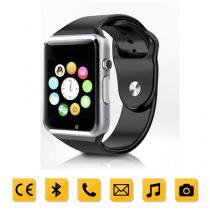 Smartwatch Chip todas operadoras Bluetooth Camera Selfie Touch Android A1 Preto e Prata - Mega page