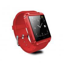 Smartwatch U8 Vermelho Relógio Inteligente Bluetooth Android Iphone - Importado