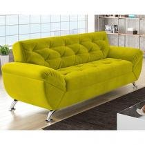 Sofá 3 Lugares Revestimento Suede - Larissa Style Linoforte