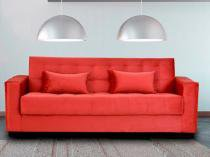 Sofá-cama 4 Lugares Veludo Reclinável - Matrix Dinorá