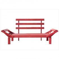 Sofá Cama Futon Country Comfort Stain Vermelho - Mão  Formão - Mão  Formão