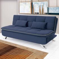 Sofá cama Mayara Linoforte 906 Azul Jeans - Linoforte