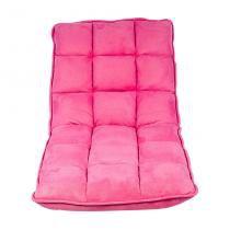 Sofá-Cama Solteiro Estofado de Chão Suede Pink Fullway - Oldway