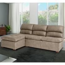Sofá Chaise 2 Lugares Revestimento Tecido - Cross Móveis Estrela