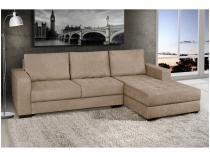 Sofá Chaise 2 Lugares Suede Nápole - American Comfort