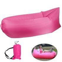 Sofa inflavel puff magico com bolsa transporte rosa cbrn03761 - Adventure brasil