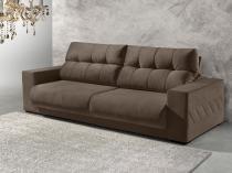 Sofá Retrátil e Reclinável 3 Lugares Suede - Reta Moderna Supreme American Comfort