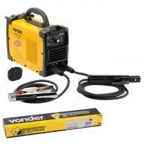 Solda Inversora Eletrodo e Tig RIV 133 Monofásica + BRINDE 5 KG de Eletrodo 2,5 MM 6013 VONDER -