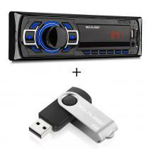 Som Automotivo New One P3318 Multilaser Com Pendrive 8GB -