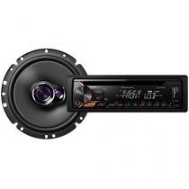 Som Automotivo Pioneer DEH-X1980UB CD Player - MP3 Rádio AM/FM USB Auxiliar + Alto-falante