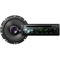 Som Automotivo Pioneer DEH-X5BR CD Player - Bluetooth MP3 Player + Alto-falantes Pioneer