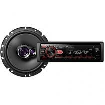 Som Automotivo Pioneer MVH-298BT Bluetooth  - MP3 Rádio AM/FM USB Auxiliar + Alto-falante