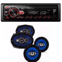 Som Automotivo Pioneer Mvh 98ub E Par Auto Falantes Quadraxial  6- 6X9 -