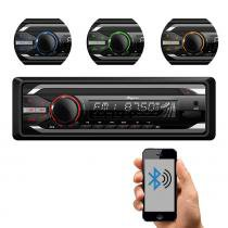 Som Automotivo Quatro Rodas CD Player MTC6615, Bluetooth, USB, Auxiliar, Cartão SD, Viva-voz e 25Wx4 -