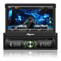 Som Automotivo Quatro Rodas DVD Retrátil Tela de 7 Touch, BT, USB, SD e Aux MTC6617 -
