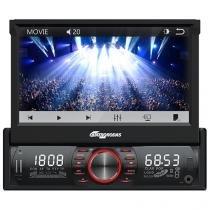 """Som Automotivo Quatro Rodas MTC6612 LED 7"""" - Retrátil Touch Bluetooth Entrada para Câmera de Ré"""