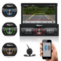 """Som Automotivo Quatro Rodas Retrátil 7.0"""" MTC6613, Bluetooth, USB, Câmera de Ré, Auxiliar, Touch Screen, Micro SD, Viva-voz e 25Wx4 -"""