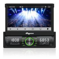 Som Automotivo Quatro Rodas Retrátil Tela de 7 Touch, BT, Viva-voz, USB, SD e Aux MTC6612 -