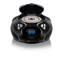 Som Portátil Boombox Multilaser SP178 5 em 1 Bivolt Com Entradas USB Leitor de CD e Rádio FM Preto - Multilaser