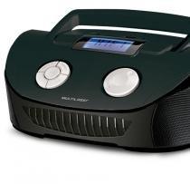 Som Portátil Boombox Multilaser SP182 4 em 1 Bivolt Com Entradas USB Rádio FM Preto -