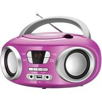 Som Portátil Mondial Rádio FM 6W CD - Display Digital BX-15 Up Entrada USB MP3
