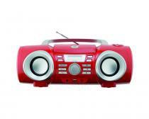 Som Portátil Philco PB130V USB CD MP3 Rádio FM 10W - Vermelho - Bivolt -