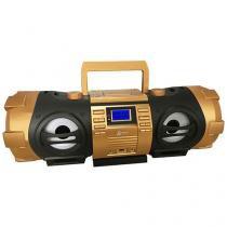 Som Portátil USB MP3 CD FM BD 1500 Boombox - Lenoxx
