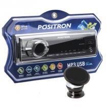 Som Positron 2210 com Suporte Magnetico para celular - Pósitron