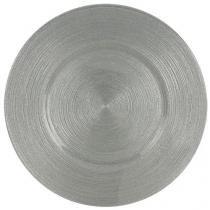 Sousplat de vidro 33 cm circlea silver - lhermitage -