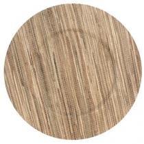Sousplat redondo 33 cm natural linha leaf - Dynasty