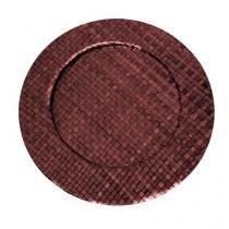 Sousplat vermelho em rattan 33 cm linha pandanus - Dynasty