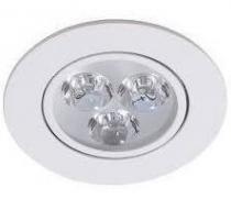 Spot 3w 6000k LED Embutir Bivolt Redondo Branco Frio - Ddy