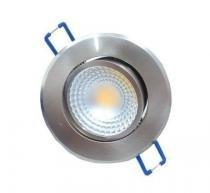 Spot 5w 3000k LED Embutir Redondo Escovado Dirigível COB DL104A - Bella iluminação