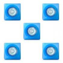 Spot dicróica vidro quadrado (com lâmpada) 05 unidades - Home line